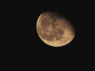 The Moon through clouds 9Mar2015 by SkyfireDragon