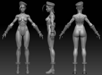 Cammy sculpt wip 2 by Jiggeh