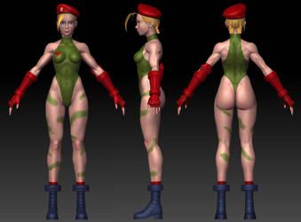 Cammy sculpt wip 6 by Jiggeh