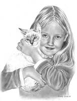 Thierry's sister and his Cat by Mirally