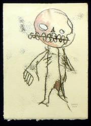cute pink skull by apechute