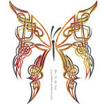 Celtic Butterfly by DragonAotearoa