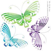 Butterflies by DragonAotearoa
