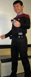 Costume Test: DS9 Duty Uniform (New Undershirt) by galaxy1701d