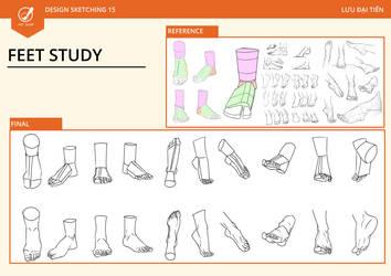 Foot Study - 23/9/2017 by SonyyL