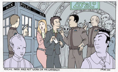 Doctor Who on Babylon 5 by Barkon68