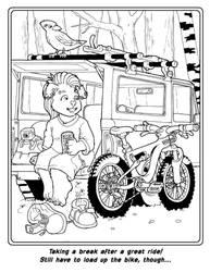 Bike Coloring Book Page 5 by Barkon68