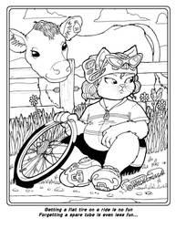 Coloring Book: Kat gets a flat by Barkon68