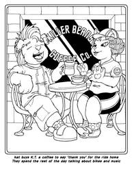 Coloring Book: Kat and K.T. get some coffee! by Barkon68