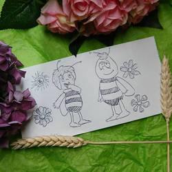 croquis Maya l'abeille  by papablogueur