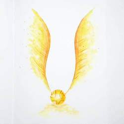 Golden Snitch Harry Potter Quidditch  by papablogueur