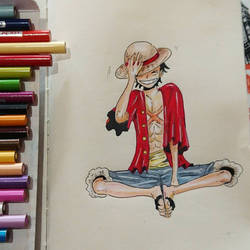 LUFFY ONE PIECE  by papablogueur