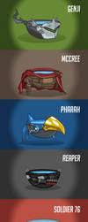 Overwatch heroes as lukewarm bowls of water by Lukidjano