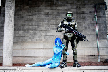 Halo - Cortana and Chief by Hyokenseisou-Cosplay
