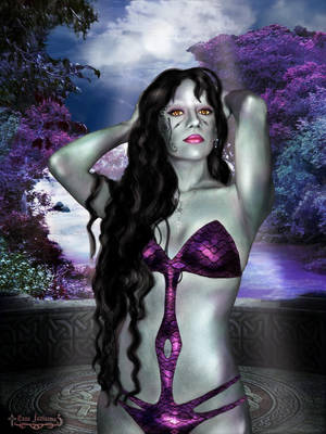 Wraith Queen Luna in paradise by Luna-Fantasma