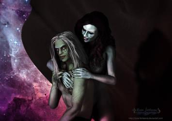 Benemoth and Luna Queen on Hive by Luna-Fantasma
