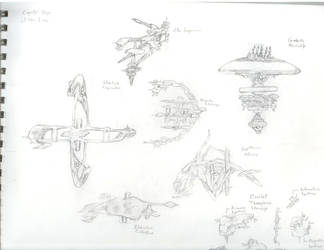 Open Space Ships of the Line by labgnome