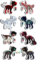 [2 and 6 OPEN!] Unnatural Canine Creatures SET 1 by Roqe-Adopts