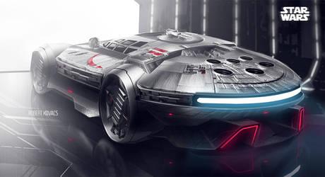 Millennium Falcon Car by roobi