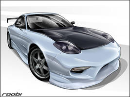 Mazda RX7 toon by roobi