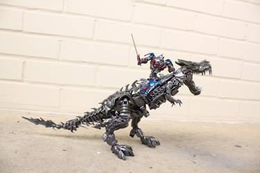 Mini Optimus Prime AOE + Grimlock Custom by Npiece