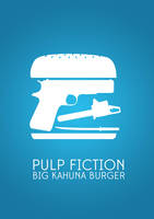 Pulp Fiction Minimalist Movie Poster by Loweak