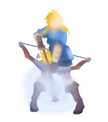Link Breath of the wild minimalist splash poster by Loweak