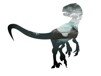 Velociraptor Minimalist Splash by Loweak