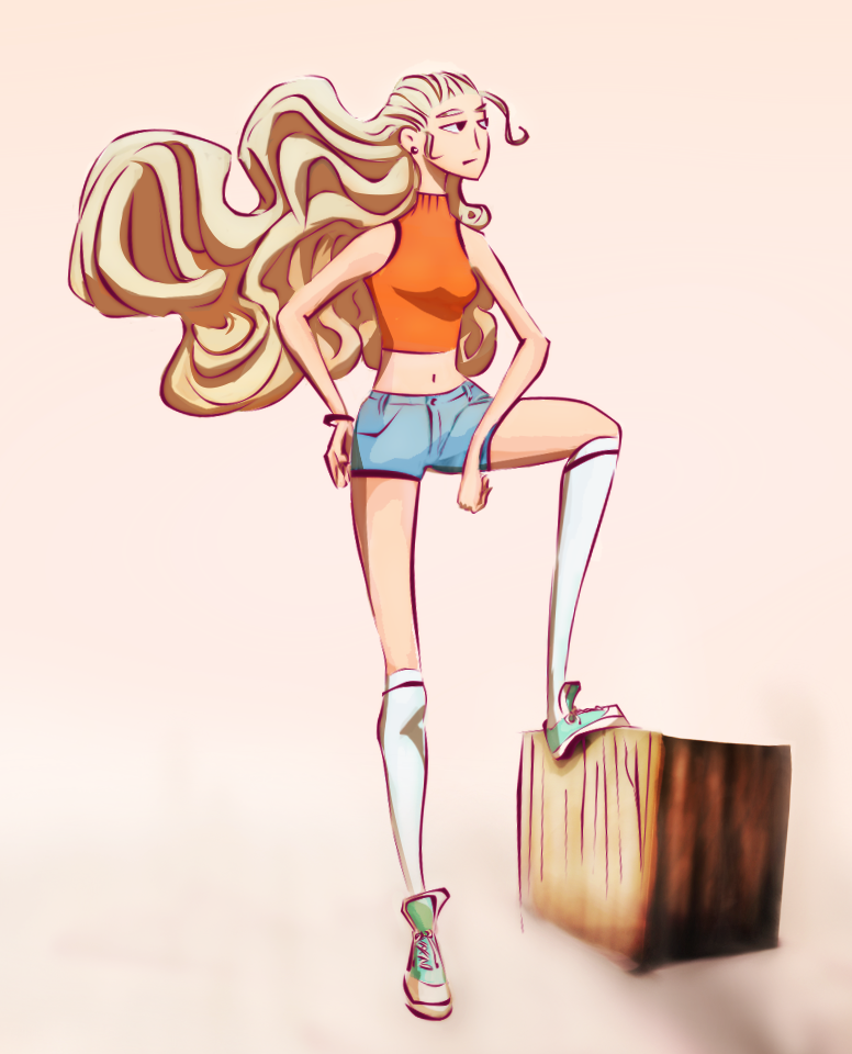 Sunset Girl by Paradoxelle