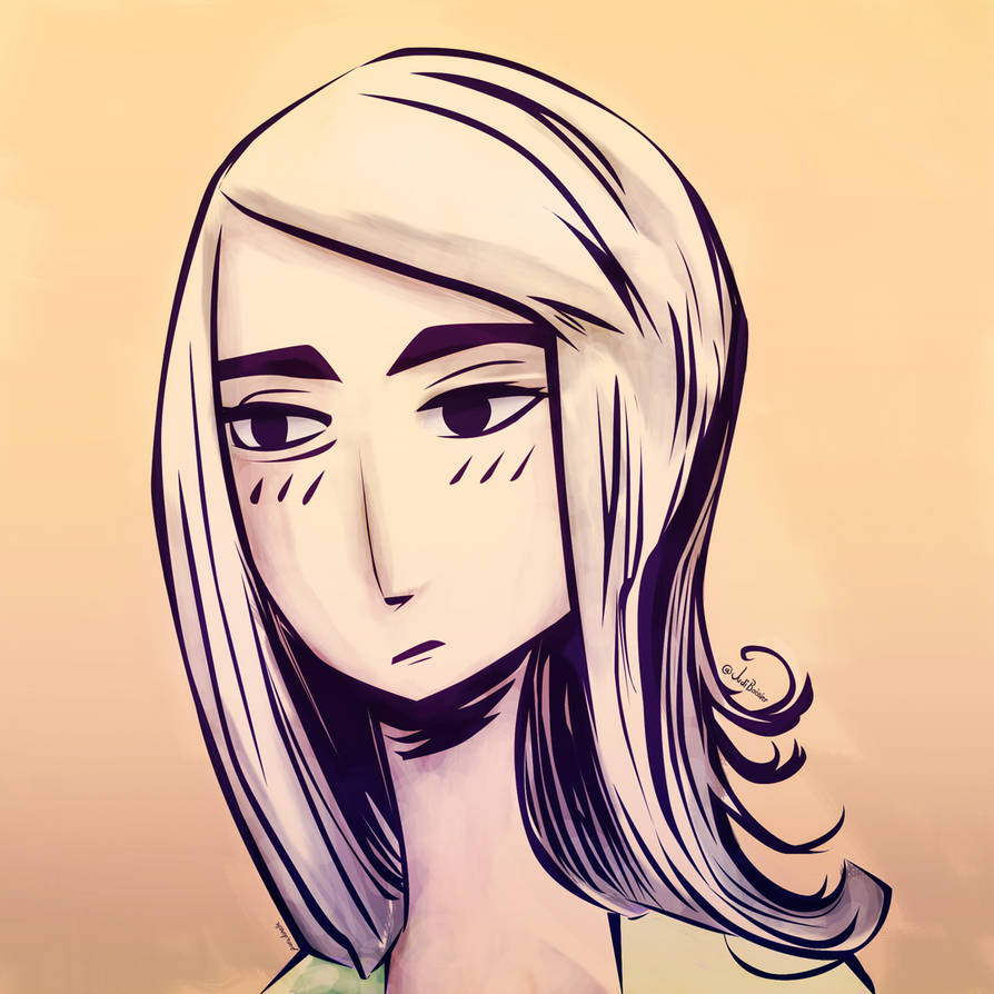 Scowling Girl by Paradoxelle