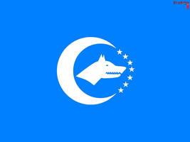 Flag of Turkic Union (no effect) by llmatako