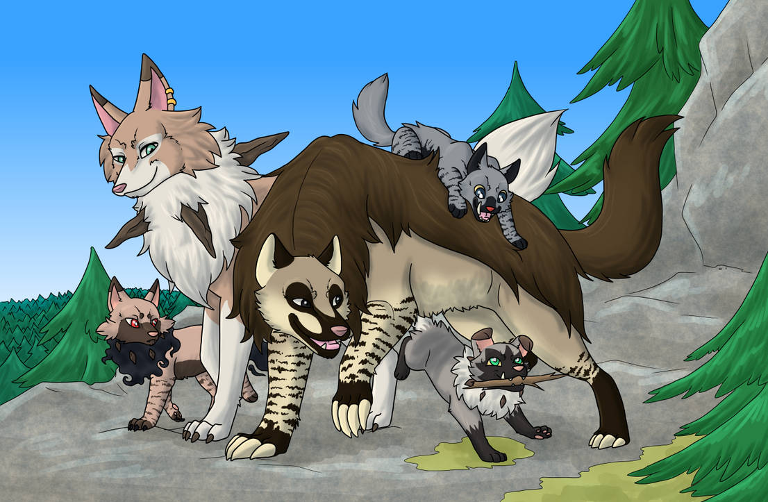 Wandering family [PKMNation] by Vampuuri