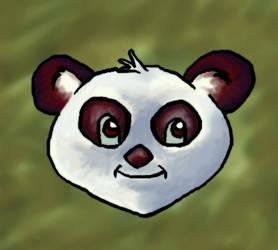 Panda Headshot by pookstar