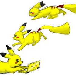 Pikachu Sketches by HellsPlumber