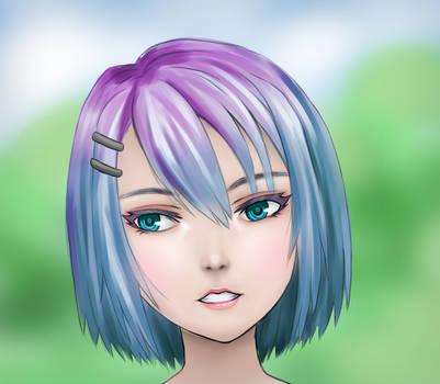 Slightly more realistic Anime Female by AniAtama