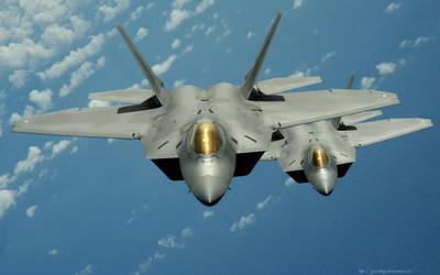 F-22 Raptors by gandiusz
