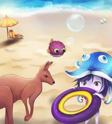 C'mon you, let's swim! by UsagiPyon19