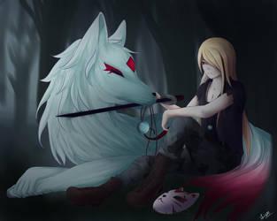Commission - Night Fox and Akio by UsagiPyon19