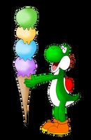 Yoshi ice cream by ZeFrenchM