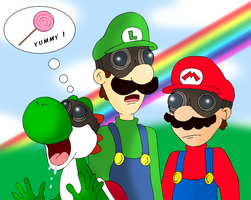 Pyrovision 2 : Mario Luigi and Yoshi by ZeFrenchM
