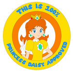 Princess Daisy Seal of approval by ZeFrenchM