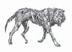 Zombie Wolf by TheIncredibleHibby