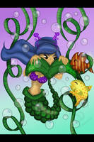 Mermaid 7 making friends  by amy3dtd