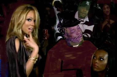 Jeezy Mariah Carey make over by pencilnice