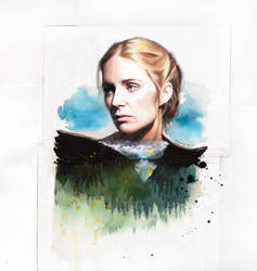 Written on the mountains. Portrait of Agnes Obel. by Mentiradeloro