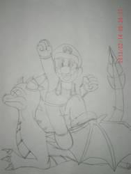 Mario Versus Spyro by ProjectOrionII