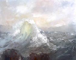 Sea wave by flitart