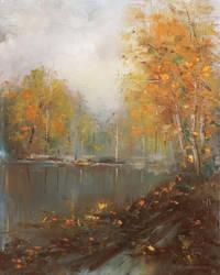 Autumnal fog by flitart