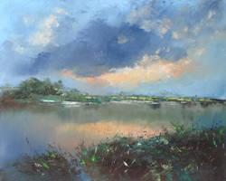 Pond on the plain by flitart