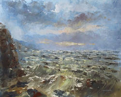 Sea storm by flitart